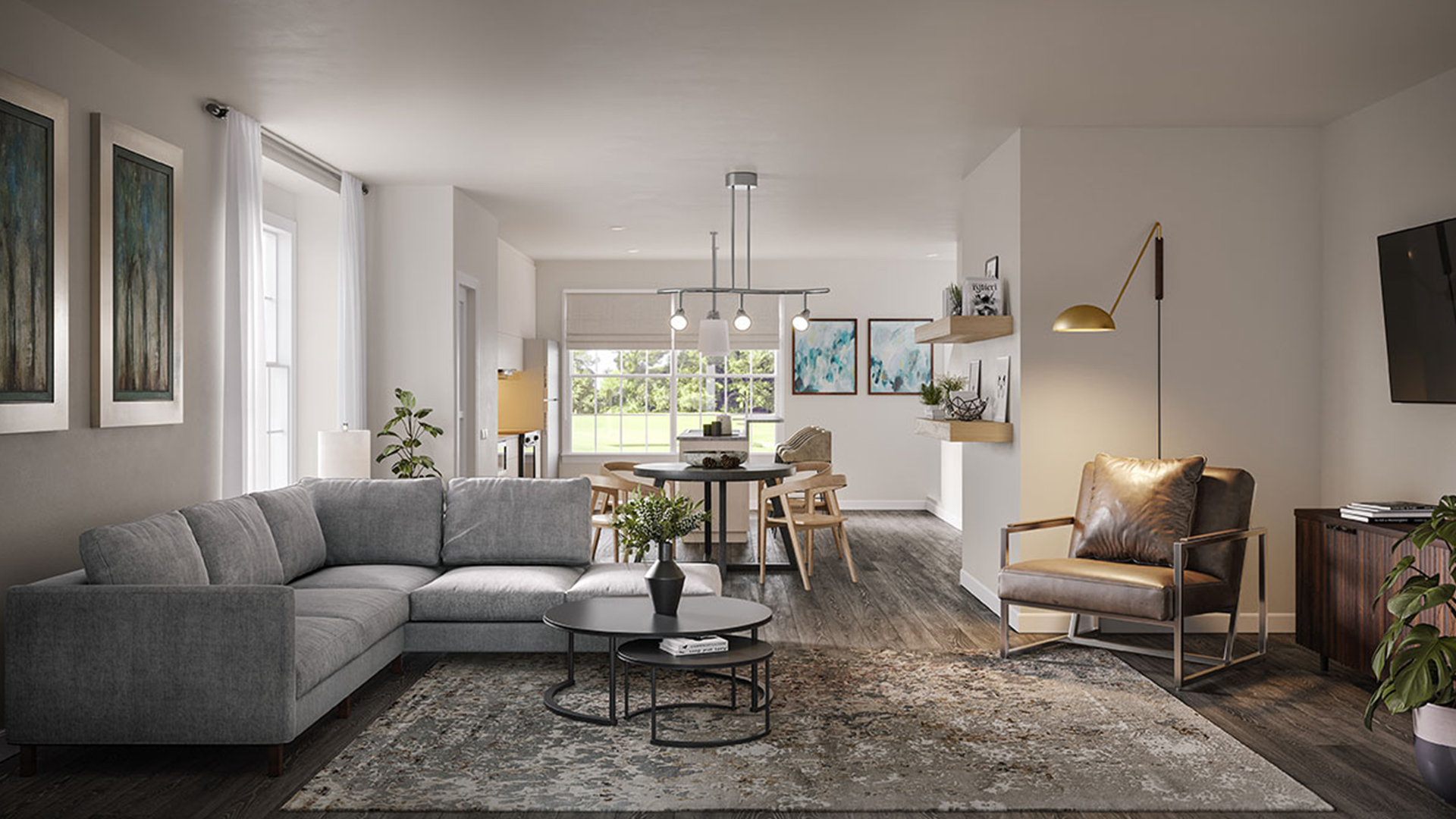 townhome-living-room-at-orland-ridge-townhomes-and-villas