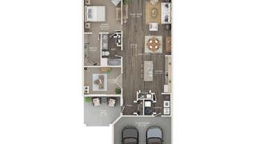 One Bedroom Plus Den Ranch Villa